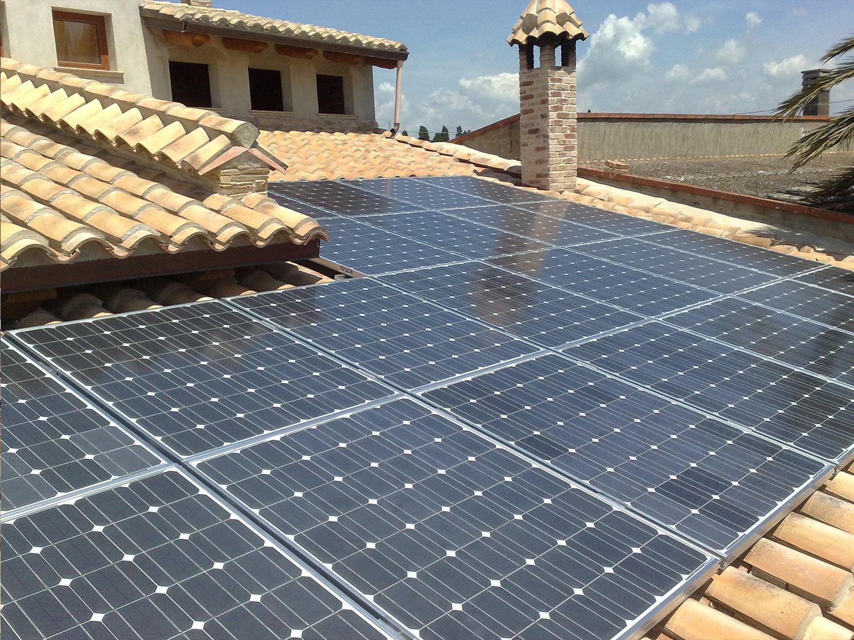 impianto fotovoltaico villa sassari