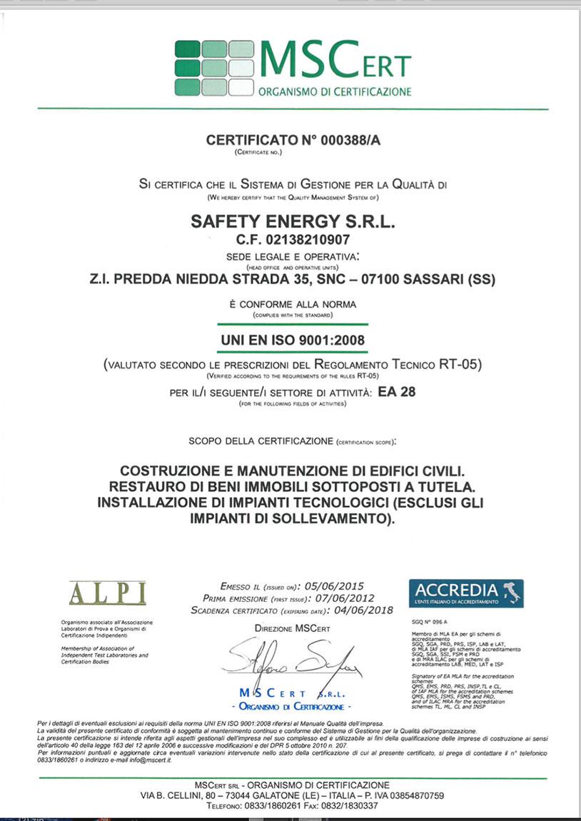 MSCert safety energy